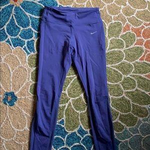 Purple Nike Dri-Fit leggings